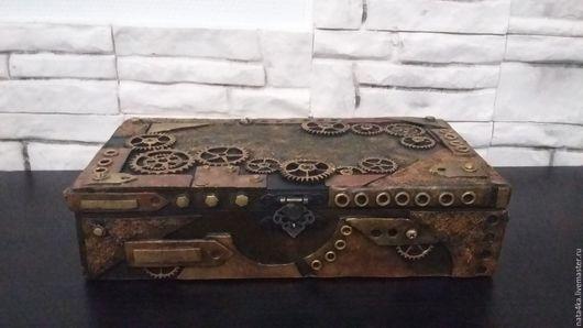 Персональные подарки ручной работы. Ярмарка Мастеров - ручная работа. Купить Купюрница Steampunk. Handmade. Рыжий, купюрница для мужчины