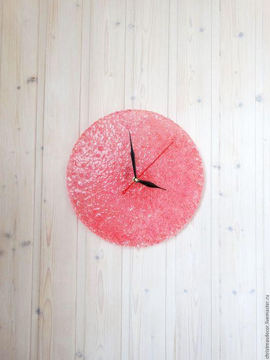 Часы настенные необычные и позитивные. Яркие настенные часы для дома, декоративный элемент интерьера. Часы в подарок, Настенные часы для новоселов. Настенные часы для комнаты Розовый цвет для девушки