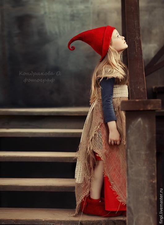 Шапки ручной работы. Ярмарка Мастеров - ручная работа. Купить Красная шапочка. Handmade. Ярко-красный, карнавальный костюм