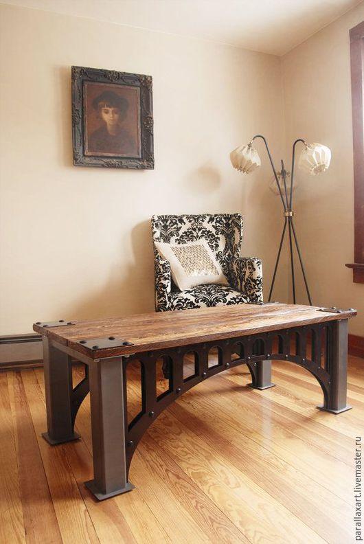 Мебель ручной работы. Ярмарка Мастеров - ручная работа. Купить Стол Мост. Handmade. Лофт, стол, Мебель, индастриал, подарок