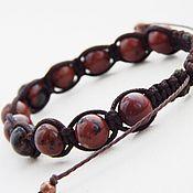 Украшения handmade. Livemaster - original item Obsidian Shambhala bracelet. Handmade.