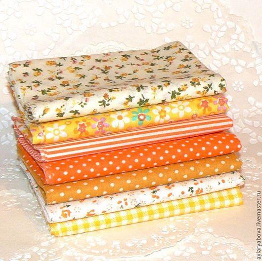 Шитье ручной работы. Ярмарка Мастеров - ручная работа. Купить Набор ткани,жёлтый. Handmade. Желтый, набор тканей, ткань