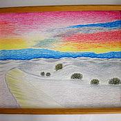 """Картины ручной работы. Ярмарка Мастеров - ручная работа Картина""""Оттенки заката""""-масляная пастель. Handmade."""