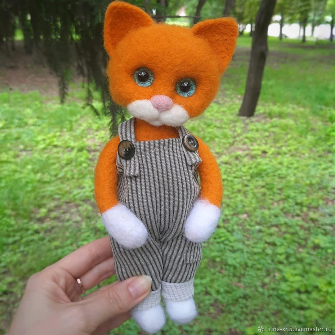 Рыжий котик, Войлочная игрушка, Харьков,  Фото №1