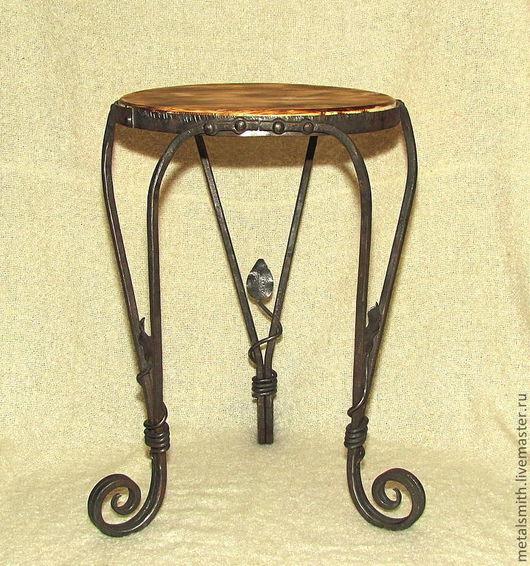 Мебель ручной работы. Ярмарка Мастеров - ручная работа. Купить Столик кованый. Handmade. Черный, столик, Ковка, ручная ковка