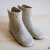"""Обувь ручной работы. Ярмарка Мастеров - ручная работа Валяные   чуни  """"Осень"""". Handmade."""