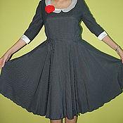 Одежда ручной работы. Ярмарка Мастеров - ручная работа платье в  мелкий горошек. Handmade.