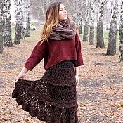 Одежда handmade. Livemaster - original item Winter warm wool knitted crochet skirt