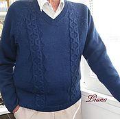 """Одежда ручной работы. Ярмарка Мастеров - ручная работа Пуловер """"Для него"""". Handmade."""