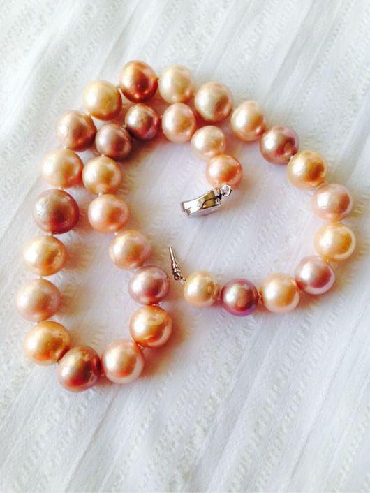 Колье, бусы ручной работы. Ярмарка Мастеров - ручная работа. Купить Ожерелье  с барочным жемчугом касуми ААА. Handmade. Комбинированный