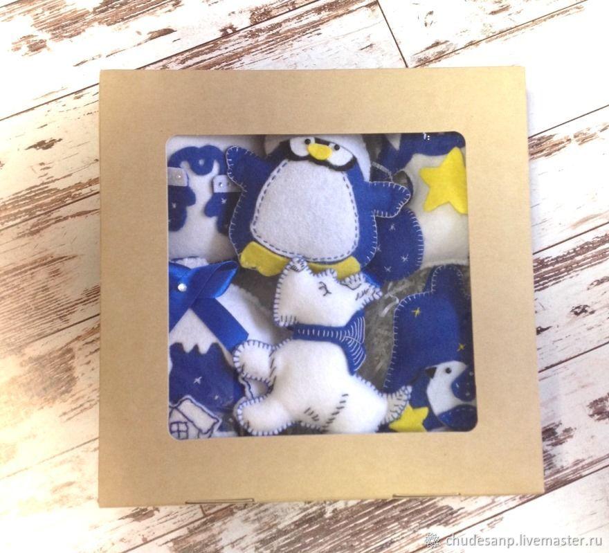 Новогодние игрушки из фетра (Набор №2)