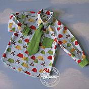 """Работы для детей, ручной работы. Ярмарка Мастеров - ручная работа Рубашка """"Бойскаут"""" с галстуком. Handmade."""