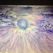Картины и панно handmade. Livemaster - original item Lilac sky. Watercolor.. Handmade.