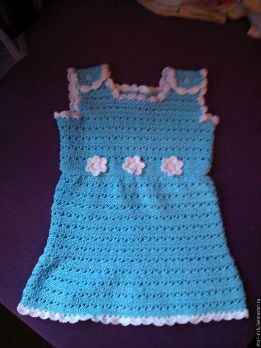 Одежда для девочек, ручной работы. Ярмарка Мастеров - ручная работа. Купить Сарафан для малышки. Handmade. Ажурное платье, сарафан крючком