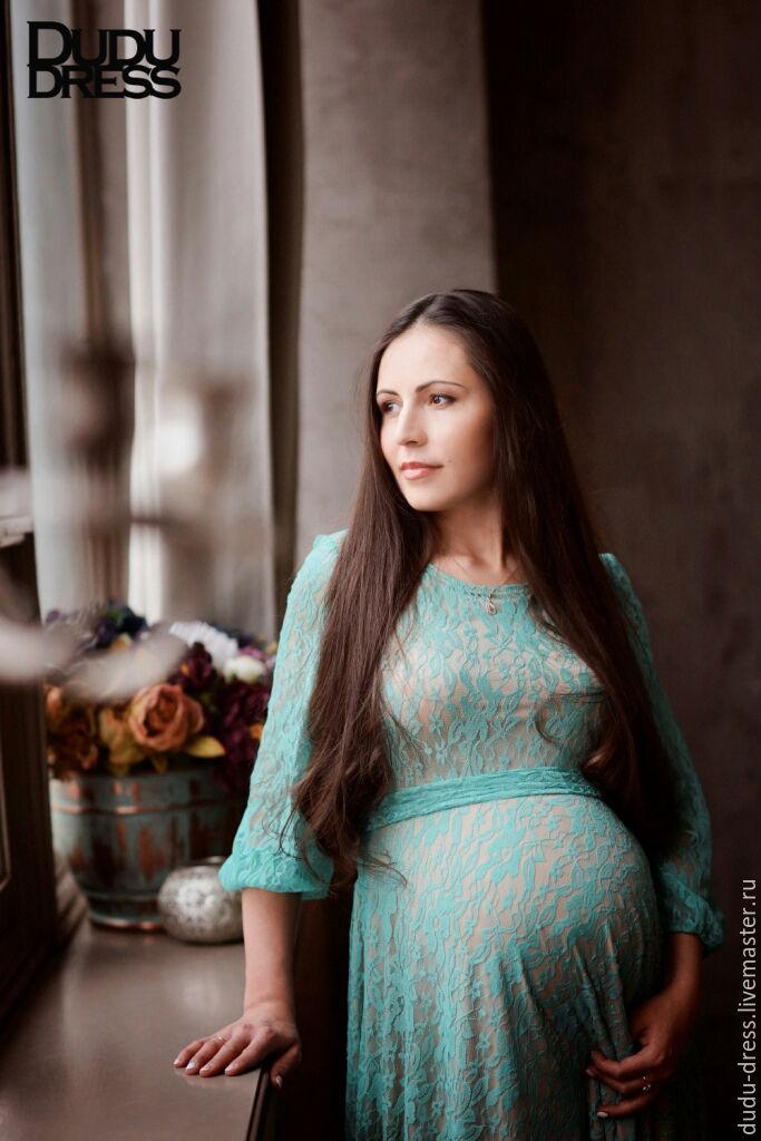 199ce8a9622c ... Мятное платье для беременных. Для будущих и молодых мам ручной работы.  Ярмарка Мастеров - ручная работа. Купить Мятное ...
