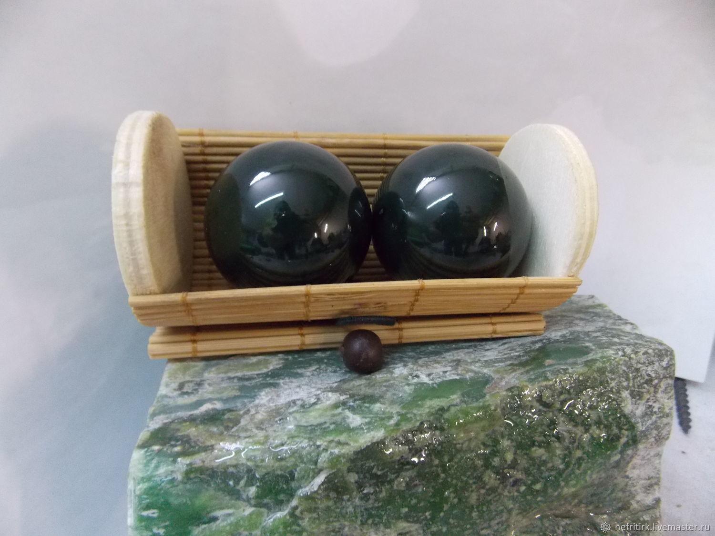Нефрит натуральный. Шары тактильные, Подарки, Иркутск, Фото №1