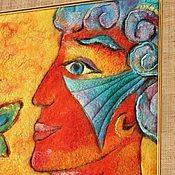 """Картины и панно ручной работы. Ярмарка Мастеров - ручная работа Картина из войлока """"Встреча"""". Handmade."""