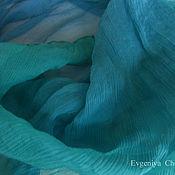 Аксессуары ручной работы. Ярмарка Мастеров - ручная работа Шейный платок из жатого шифона.. Handmade.