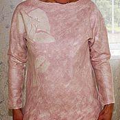 """Одежда ручной работы. Ярмарка Мастеров - ручная работа Свитер валяный """" I love Lancome"""". Handmade."""