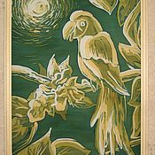 """Картины и панно ручной работы. Ярмарка Мастеров - ручная работа Панно """"Влюбленный попугай"""". Handmade."""
