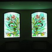 Для дома и интерьера ручной работы. Ярмарка Мастеров - ручная работа Витраж, имитация окна. Handmade.