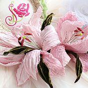Цветы ручной работы. Ярмарка Мастеров - ручная работа Бархатные лилии. Handmade.