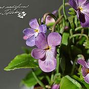 Цветы и флористика handmade. Livemaster - original item Forest violet. interior arrangement.. Handmade.