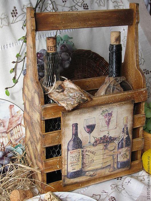 """Корзины, коробы ручной работы. Ярмарка Мастеров - ручная работа. Купить """" Baron Rouge """" Короб для вина.. Handmade."""