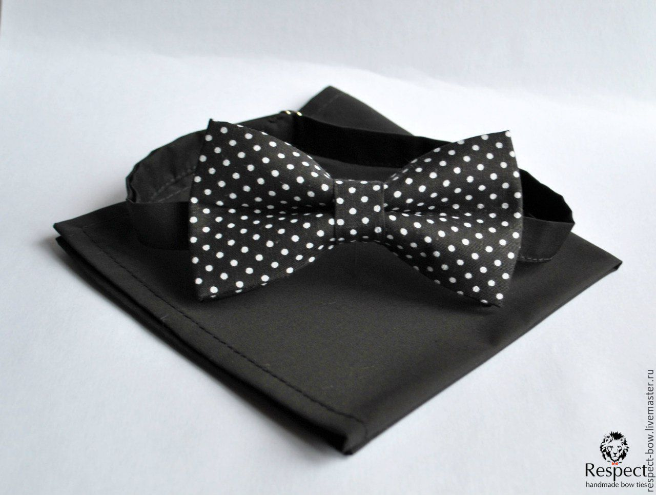 Tie black polka dot Aesthetics pocket square black, Ties, Moscow,  Фото №1
