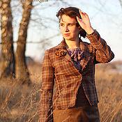Одежда ручной работы. Ярмарка Мастеров - ручная работа Жакет из шерсти Степь. Handmade.
