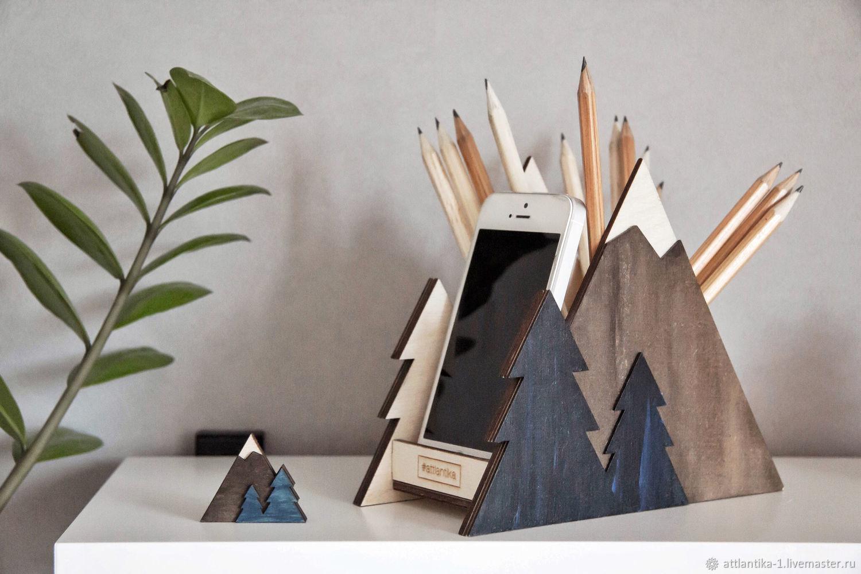 Карандашница Гора (изделие авторское), Карандашницы, Москва,  Фото №1