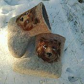 """Обувь ручной работы. Ярмарка Мастеров - ручная работа Валенки"""" мишки"""" детские. Handmade."""