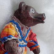 Народная кукла ручной работы. Ярмарка Мастеров - ручная работа Народная кукла: Сувенир Русский медведь . 6 вариантов одежды. Handmade.