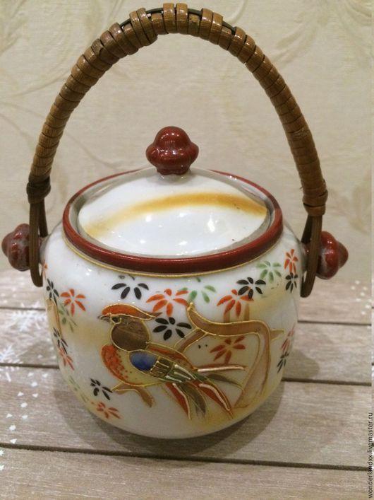 Винтажная посуда. Ярмарка Мастеров - ручная работа. Купить Сахарница, Япония, ручная роспись, 60е. Handmade. Комбинированный