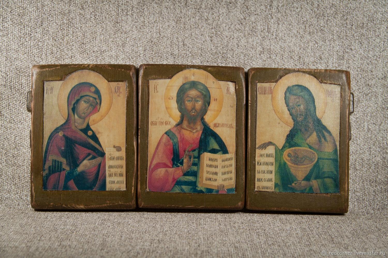 Икона Триптих Деисус, Иконы, Томск, Фото №1
