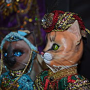 Куклы и игрушки handmade. Livemaster - original item Dolls cats Sultan and Sultana. Handmade.