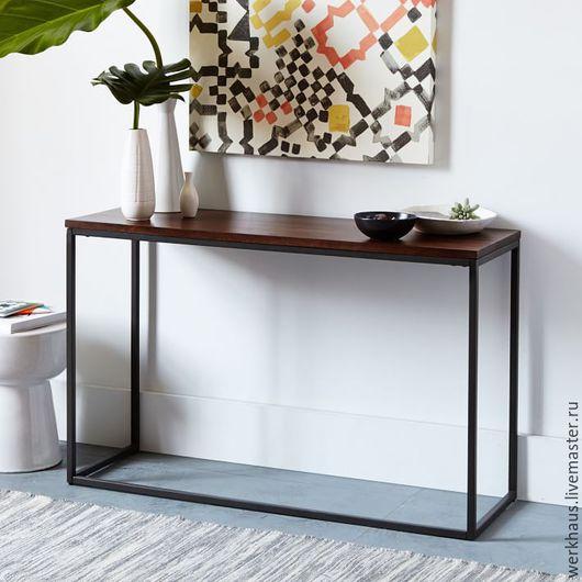 Мебель ручной работы. Ярмарка Мастеров - ручная работа. Купить Консольный столик в стиле лофт. Handmade. Лофт, консоль, дерево