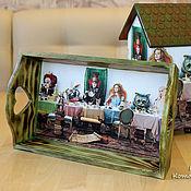 Для дома и интерьера ручной работы. Ярмарка Мастеров - ручная работа Безумное чаепитие, подносик. Handmade.