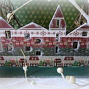 Подарки к праздникам ручной работы. Ярмарка Мастеров - ручная работа Домик-подставка Праздничный город. Handmade.