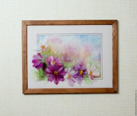 Картины цветов ручной работы. Ярмарка Мастеров - ручная работа. Купить Нежный букет. Handmade. Сиреневый, букет цветов