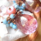 """Украшения ручной работы. Ярмарка Мастеров - ручная работа Серьги """"Розовый хамелеон"""". Handmade."""