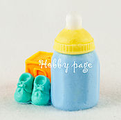 Материалы для творчества handmade. Livemaster - original item Silicone molds for soap Bottle with cube and shoes. Handmade.