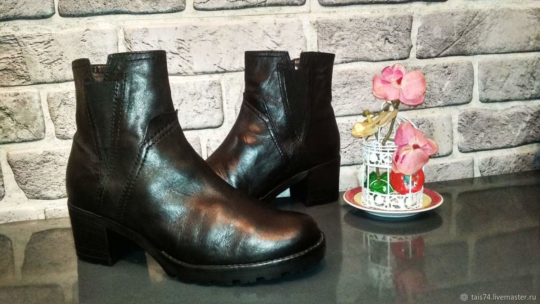 Винтаж: Немецкие  ботинки из кожи,  на  утеплителе, Винтажная обувь, Челябинск,  Фото №1