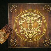 Фен-шуй и эзотерика handmade. Livemaster - original item THOR`s HAMMER, rune set, table cloth and pouch.. Handmade.