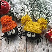 Куклы и игрушки ручной работы. Ярмарка Мастеров - ручная работа Новогодние паучки)). Handmade.