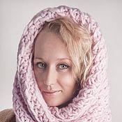 Аксессуары ручной работы. Ярмарка Мастеров - ручная работа Снуд-капюшон «Французский розовый». Handmade.