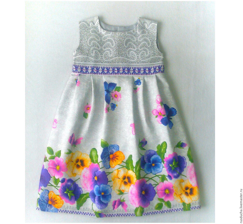 Платье лен для девочек