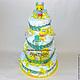 """Подарки для новорожденных, ручной работы. Торт из памперсов """"Майский"""". Студия сладких подарков. Интернет-магазин Ярмарка Мастеров. Подарки для новорожденных"""