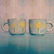 """Посуда ручной работы. Ярмарка Мастеров - ручная работа Детская чашка """"Одуваны"""". Керамика.. Handmade."""