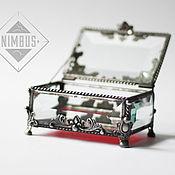 Свадебный салон ручной работы. Ярмарка Мастеров - ручная работа Маленькая прямоугольная шкатулка для колец. Handmade.